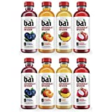 QAWS Bai Flavored Water, Rainforest Variety Pack, Antioxidant Infused Drinks, 18 Fluid Ounce Bottles, 12 count (Rainforest Variety Pack, 02 Pack)