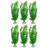 elehui 6 pz pianta piante artificiali acquario kit piante da acquario acquario piante fish tank decorazioni per il vostro serbatoio non tossiche e sicure per tutti i pesci e animali domestici(verde)