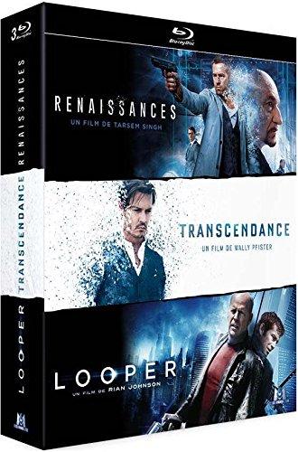 Coffret science-fiction 3 films : renaissances ; transcendence ; looper [Blu-ray] [FR Import]