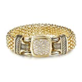 UNY Austrian Pave Crystals designer Inspired personality Bracelets alloy bangle jewelry Vintage Antique Jewelry (Gold)