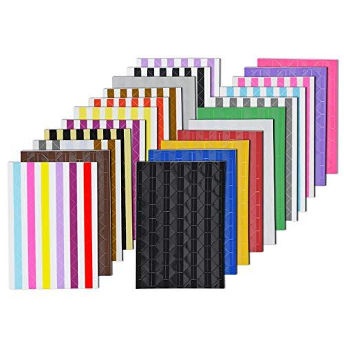 VIPbuy 2244 Stück (22 Farben sortiert) Fotoecken, selbstklebend, für Fotoalben Scrapbook, Basteln, 22 Bögen