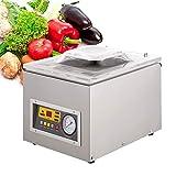 Selladora al vacío de cámara Máquina de sellado de envasado al vacío comercial Máquina selladora de alimentos de escritorio automática con bolsas de vacío de 100 piezas