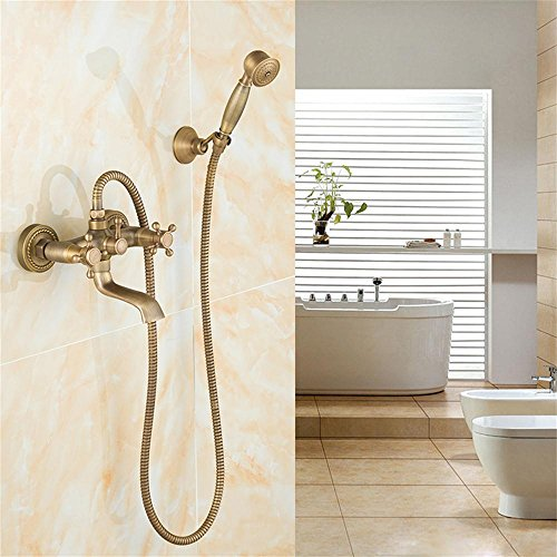 Shower set-Jack Todos - Duchas de Cobre Antiguo Antiguo Retro Ducha Suite Ducha Rociador Ducha Grifo