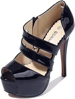 OCHENTA Women's Peep Toe Platform High Heel Sandal Pumps