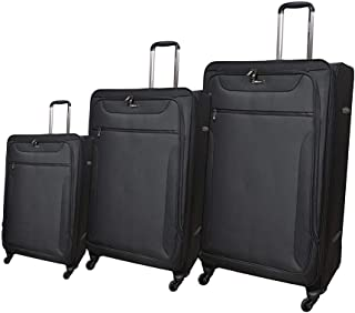 Magellan Luggage Trolley Bags 4 Pcs Set, Black