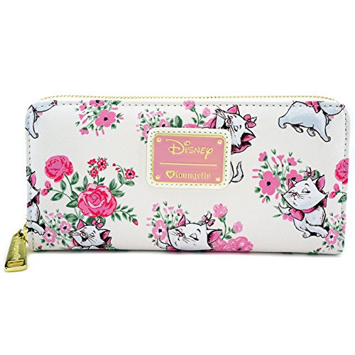 Loungefly x Disney Marie Floral AOP Wallet (Multi, One Size)