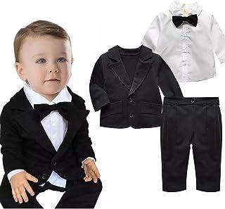 JKTOWN ベビー ボーイズ 男の子 スーツ 洋服 ジャケット ズボン シャツ 3点セット キッズ 入園式 結婚式 七五三 撮影 フォーマル