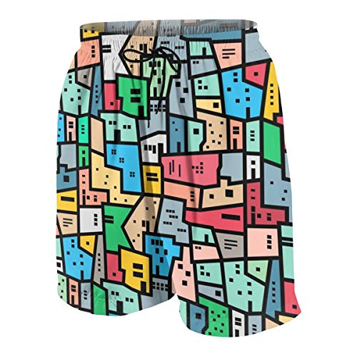 Akhy Boys Teens Beach Shorts Swim Trunks Brazilian Favela Boardshort Pants with Pockets