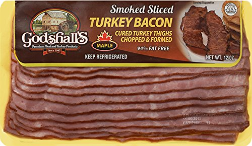 Godshall's Sliced Maple Turkey Bacon 12 Oz (6 Pack)
