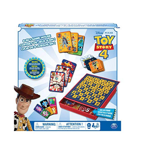 Cardinal Games 6052357 Disney Pixar Toy Story 4 6-in-1 Spielhaus, Mehrfarbig