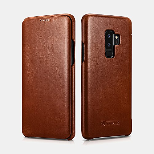 Galaxy S9Plus case, Mangix Premium Samsung Galaxy S9curve Plus in vera pelle del bordo in stile vintage, con funzione di sostegno [touch ID] per Samsung Galaxy S9Plus Earthen