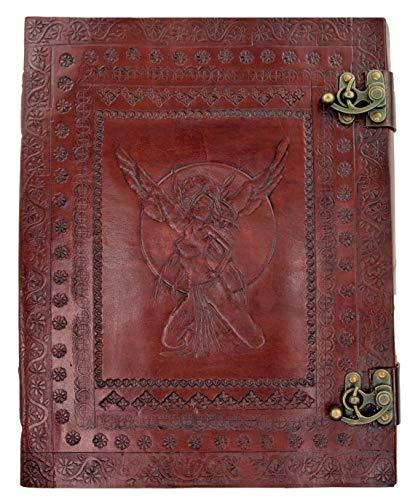 Kooly Zen – Cuaderno de notas, diario, libro, piel auténtica, vintage, 2 cierres de hada, 25...