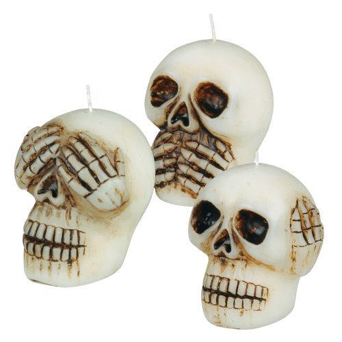 Grasslands Road Wax Skull Candle, 2-Inch, 9-Pack