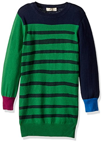 Stella McCartney Kids Little Girls' Color Block Knit Dress (Toddler/Kid) - Green/Navy - 4