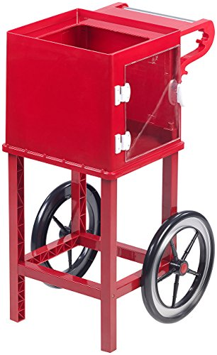 Rosenstein & Söhne Zubehör zu Popcorn-Automat: Rollwagen im Retro-Design für Popcorn-Maschine'Cinema' &'Movie', rot (Profi-Popcorn-Maschinen)