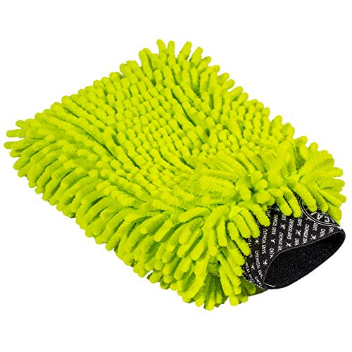 Chemical Guys Chenille MIC493 Premium Mikrofaser-Waschhandschuh, kratzfrei, Limettengrün