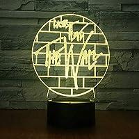 クリエイティブカスタムギフトランプアクリル3DカラフルなクリスマスナイトライトリモートカラーLedランプファクトリー直販3D照明器具