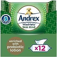 Andrex Skin Kind Washlets, Luxury Flushable Toilet Wipes Enriched with Aloe Vera and Chamomile (Flushable Toilet Wipes)