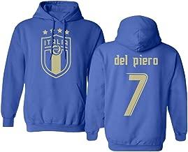 Tcamp Soccer Legends #10 Alessandro DEL Piero Jersey Style Hooded Sweatshirt