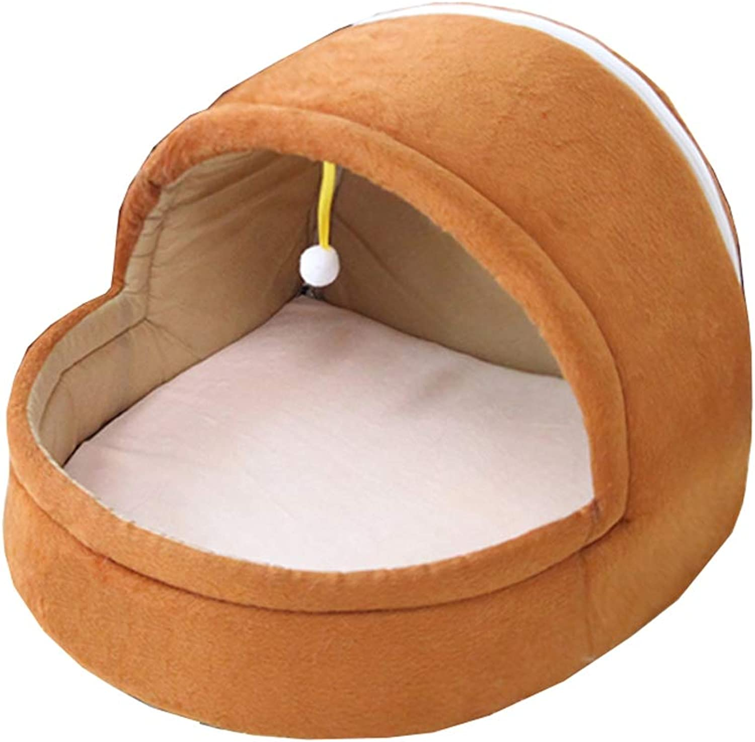 CHEN. Pet bedyurt dog bed removable and washable four seasons universal cat bed summer dualuse pet supplies,Brown,S