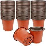 Kangmeile Macetas para semillas, 75 unidades, 10 cm, macetas para suculentas, macetas de plástico livianas, macetas de inicio de semillas, contenedor de plantas