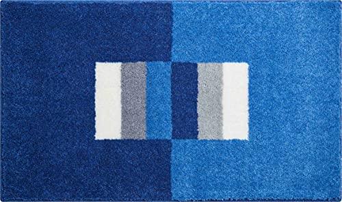 Linea Due Alfombra de Baño 3D, Ultra Suave y Absorbente, Antideslizante, 5 Años de Garantía, CAPRICIO, Alfombra de Baño 70x120 cm, Azul