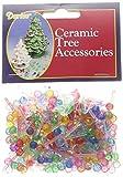 Darice Ceramic Christmas Tree Bulb .25' 250/Pkg-Mini Globe-Multi