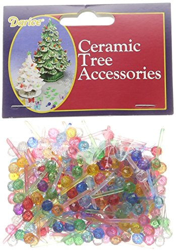 "Darice Ceramic Christmas Tree Bulb .25"" 250/Pkg-Mini Globe-Multi"