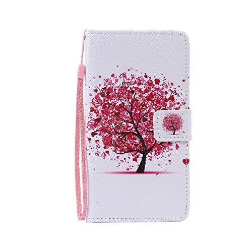 Janeqi Funda LG G4 Stylus H635/LG G Stylo LS770 - Caja del teléfono del tirón,Funda de Piel Pintada a la Moda Cáscara Case Cover para LG G4 Stylus H635/LG G Stylo LS770 [CHPT5/árbol de Color]