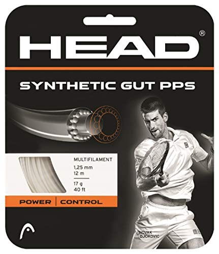 HEAD Synthetic Gut PPS Multifilament Tennis Racket String, White, 17 Gauge