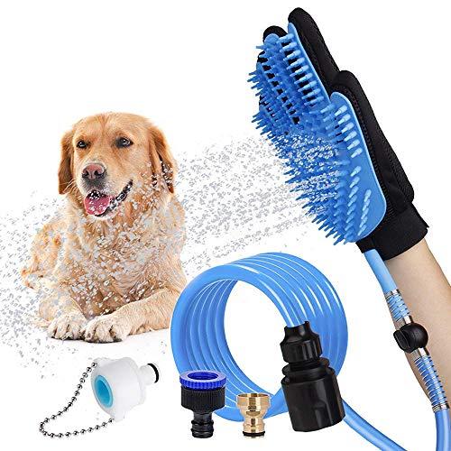 LATH.PIN Pet Bathing Tool Dog Bathing Massaging Glove, Pet Hair Remover for...