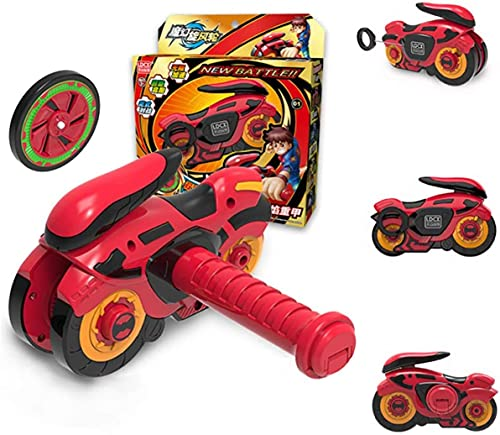 0BEST Conjuntos de Metal de Peonzas Spinning, Modo Dual, Carrera de Autos de Lujo, Regalo para Niños (Rojo)