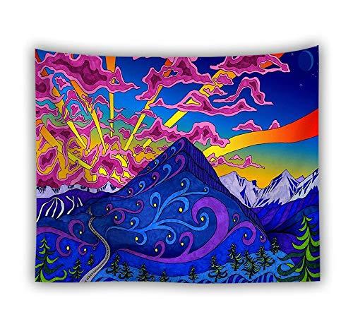 PPOU Bohemia Colorida Mandala Tapiz Tapiz Hippie psicodélico Alfombra Planta de Hongos música Personalidad Revestimiento de Paredes A2 180x200cm