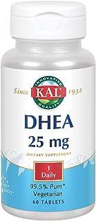 KAL DHEA Vegetarian Tablets, 25 mg, 60 Count