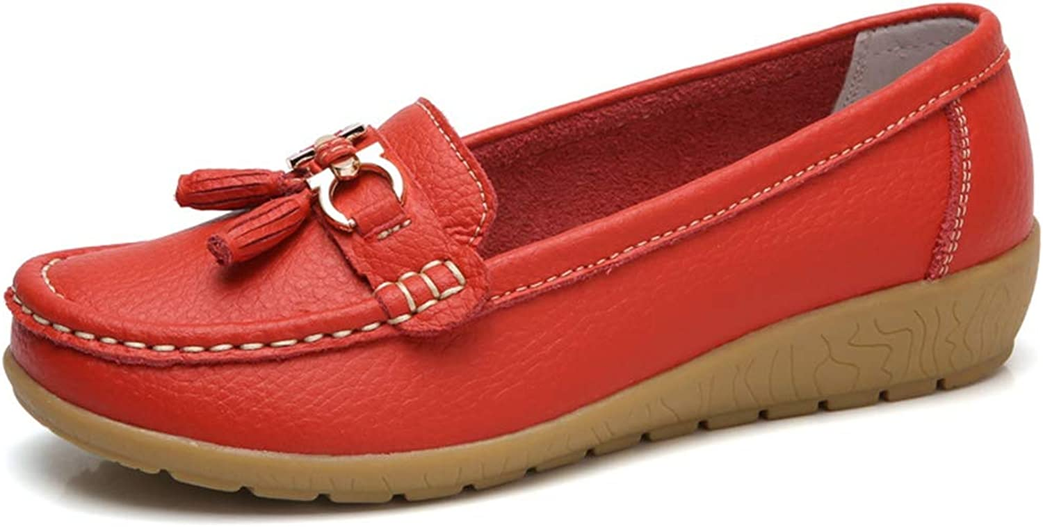 Giles Jones Loafers Women Casual Moccasin Square Toe Slip On Non-Slip Flats shoes