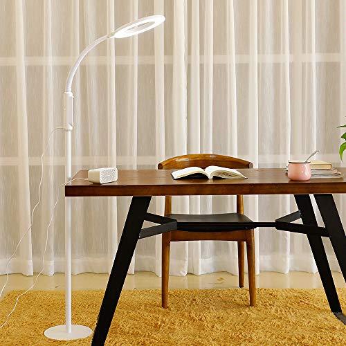 Stehlampe, LED Tischleuchte, höhenverstellbare Stehlampe, dimmbar für Wohnzimmer und Schlafzimmer, hohe Lumen-Touch-Steuerung, 4 Farbtemperaturen, 5 Helligkeitsstufen,White