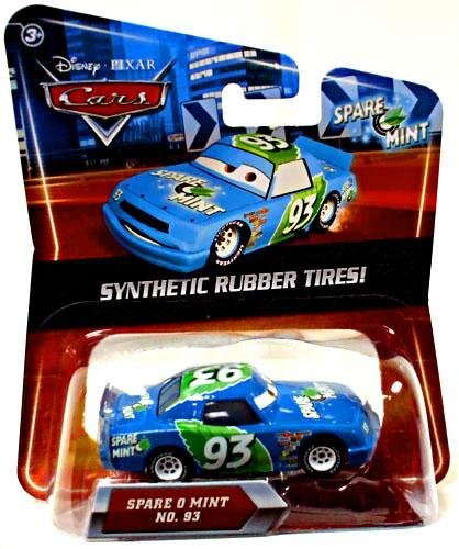 Mattel Disney Pixar Cars Exclusive Synthetic Rubber Tires Spare O Mint Die Cast Car No. 93 by Disney