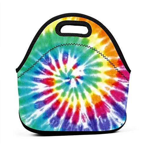 Tie Dye Neoprene Lunch Bag Insulated Lunch Box Tote for Women Men Adult Kids Teens Boys Teenage Girls Toddler