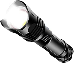 SZMYLED LED-zaklamp, werklamp,XHP99 LED-zaklamp krachtige zoomingang/uitgang dubbele schakelaar handlicht USB oplaadbare z...