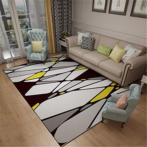 alfombra jardin exterior gris Alfombra de sala de estar de estilo de dibujos animados alfombra de patrón de piedra gris duradera alfombra juego bebe 160X230CM alfombra para silla gaming 5ft 3''X7ft 6.