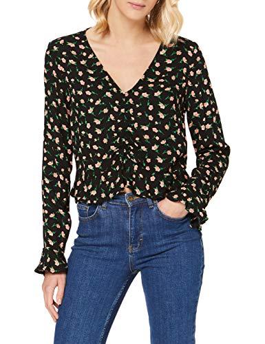 PIECES Damen PCAIYANNA LS TOP Bluse, Black, XL