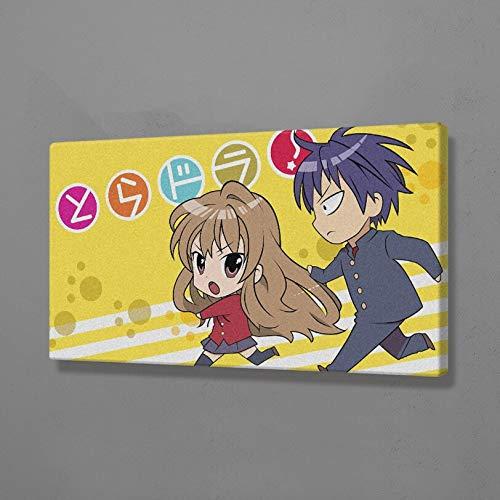 AMtxkj Toradora! Anime 90x50cm Frameless, Lienzo para Pintar Poster Impresiones Arte Imágenes de Pared para Sala de Estar Decoración para