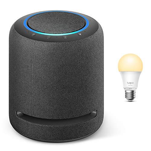 Echo Studio + TP-Link Tapo smart Lampe (E27), Funktionert mit Alexa