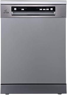 evvoli Dishwasher 7 programs 14 place setting 3 baskets platinum silver EVDW-143-MS 2 years warranty