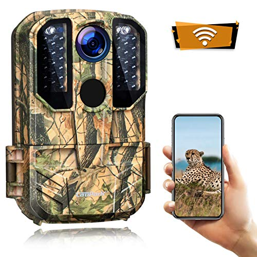 Campark Trail Camera WiFi 20MP 1296P Hunting Game Camera with Night Vision Motion Activated for Outdoor Wildlife Monitoring Remote Control Scouting Cam Waterproof IP66
