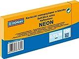 DONAU 7585011-12 Notes Würfel Haftnotizen Neon-Orange Selbstklebende Haftnotizzettel Sticky Notes 38x51mm, 3x100 Blatt, Notizblock klebend für Büro Schule