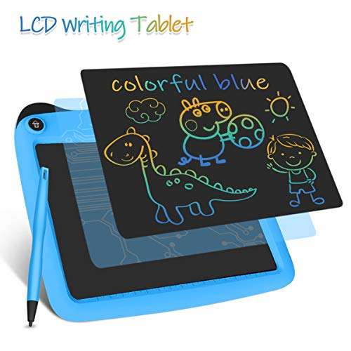 Enotepad LCD Schreibtabletten, Colorful LCD Writing Tablet Schreibtafeln 9 Zoll Digital eWriter für Kinder Tragbare elektronische Schreibtafeln Blau