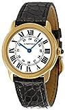 Cartier Ronde Solo - Reloj (Reloj de Pulsera, Femenino, Acero Inoxidable, Oro, Cuero, Negro)