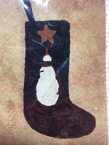 Snowman Stocking Rug Hooking Wool Pattern