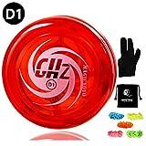 MAGICYOYO Professional Responsive Yoyo D1 GHz, Looping Yoyo Responsive Yoyos for Kids Principiante con 5 Cuerdas, Yo Yo Glove, Yo-yo Bag (Rojo)